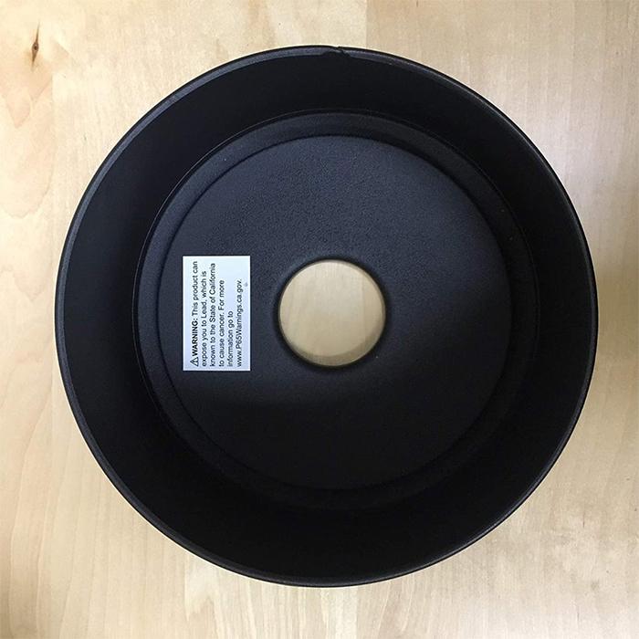 portable flame lantern metal base