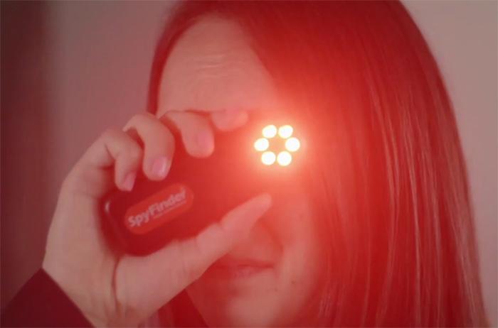 portable surveillance detecting device led
