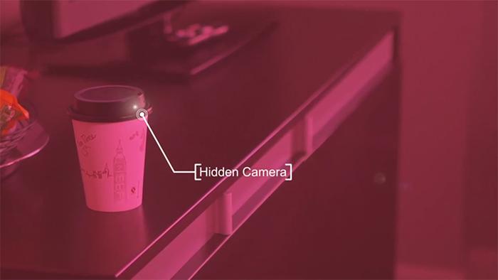 portable surveillance detecting device viewfinder