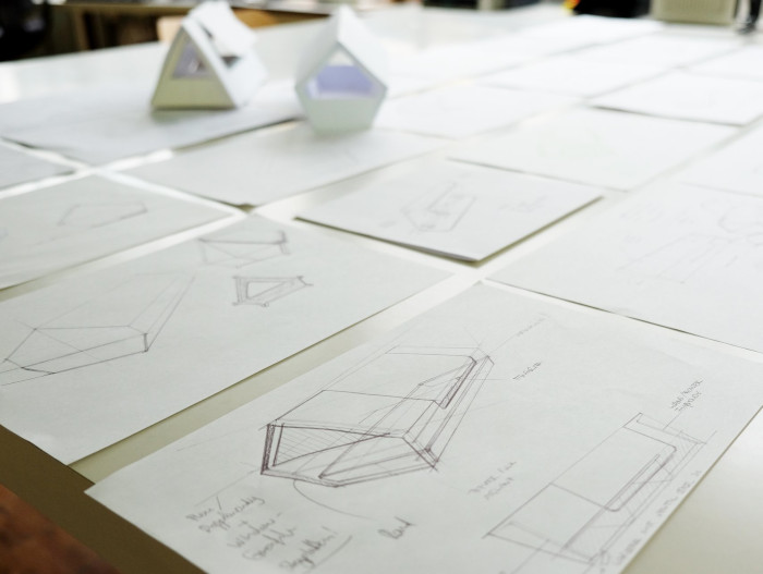 prototypes and mockups of the ulmer nest sleeping pods