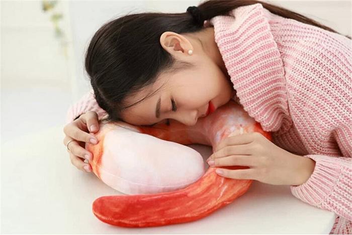 realistic seafood design cushion