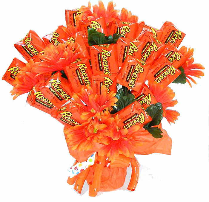 reese's extravaganza candy bouquet