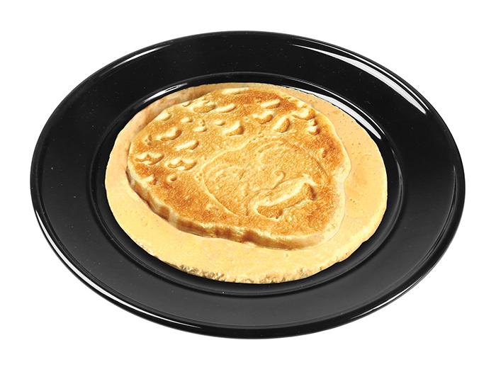ross-shaped pancake