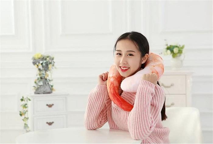 shrimp neck pillow soft cotton