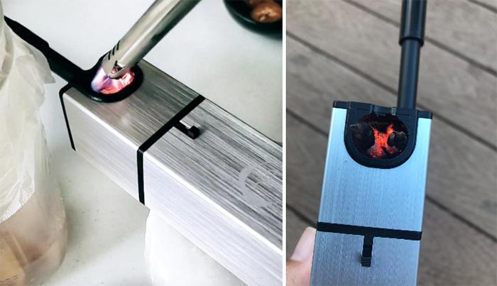 smoking gun wood chips chamber