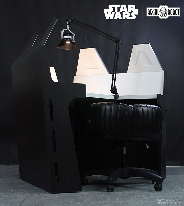 star wars villain inspired work table and stool chair