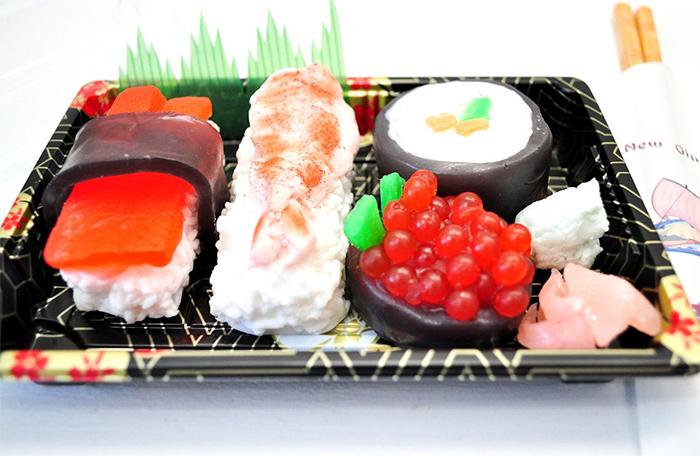 sushi soap set real tray