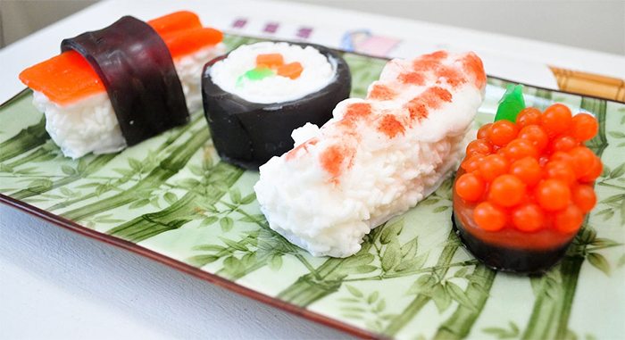 sushi soap set realistic