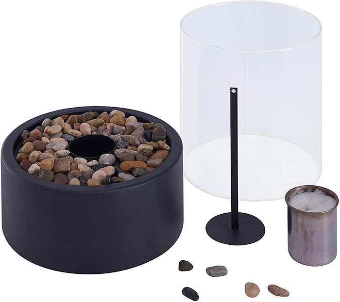 tabletop glass fireplace parts