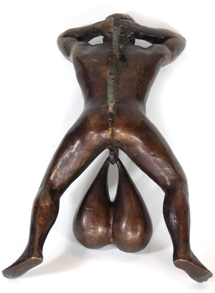 testicle-shaped door knocker mounting bolts
