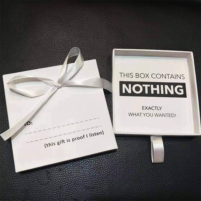 the present of nothing gag gift
