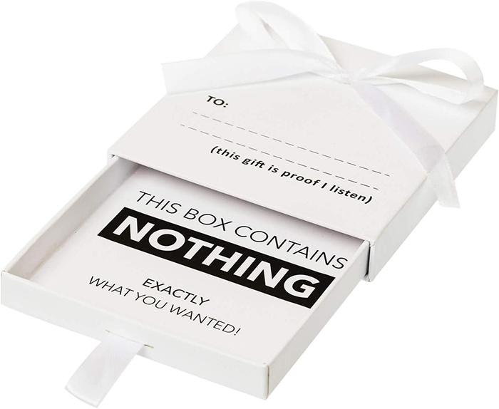 the present of nothing gift box
