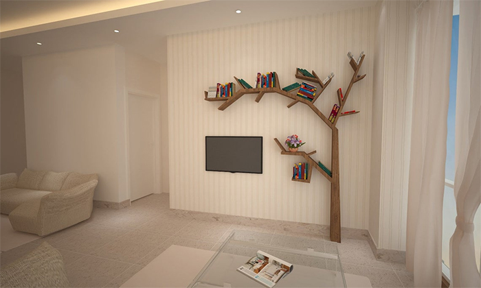 tree bookshelves wall mounted