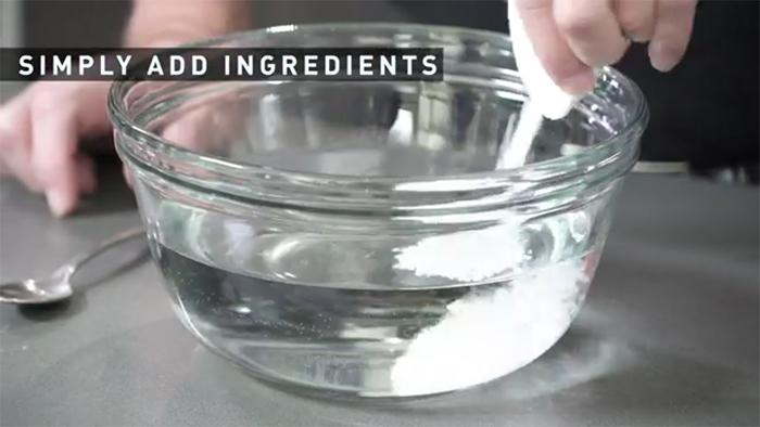 water calcium chloride mixture