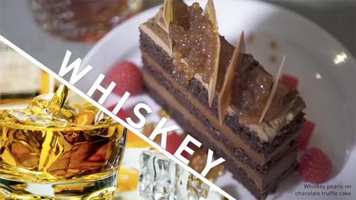 whiskey pearls chocolate truffle cake