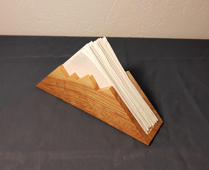 wooden mountain napkin holder