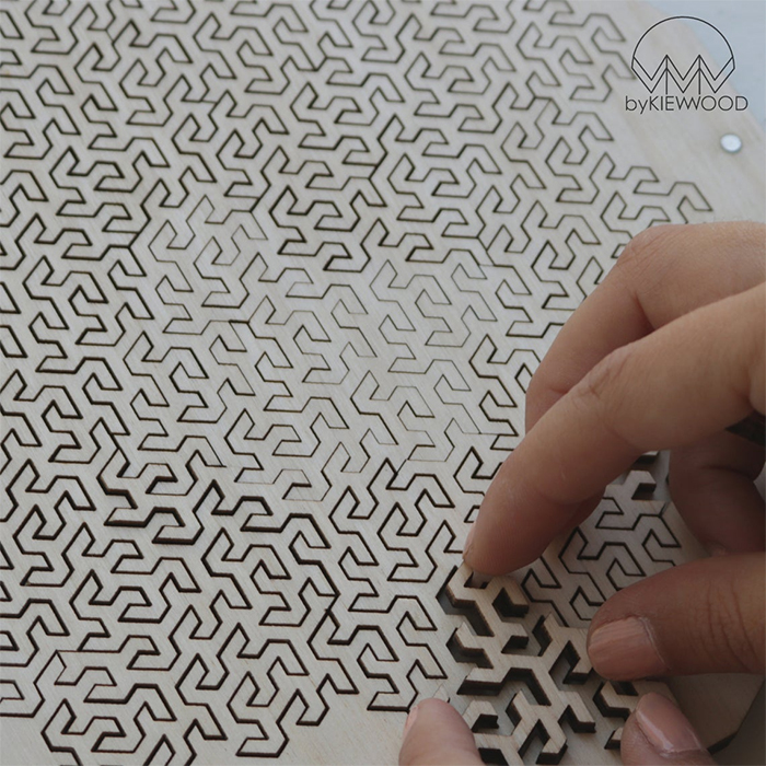wooden snowflake puzzle