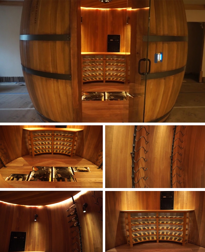 wooden wine barrel wine cellar