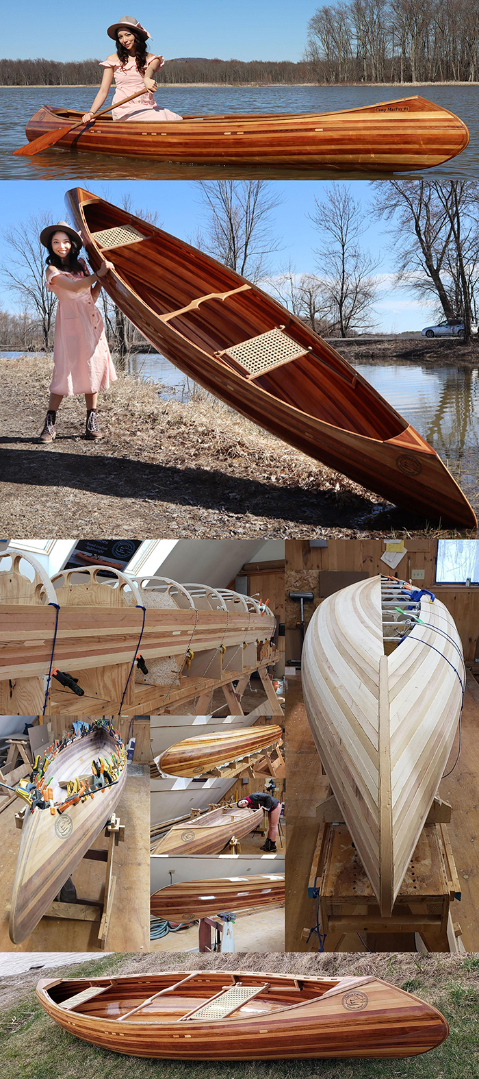 woodworking skills cedar strip canoe