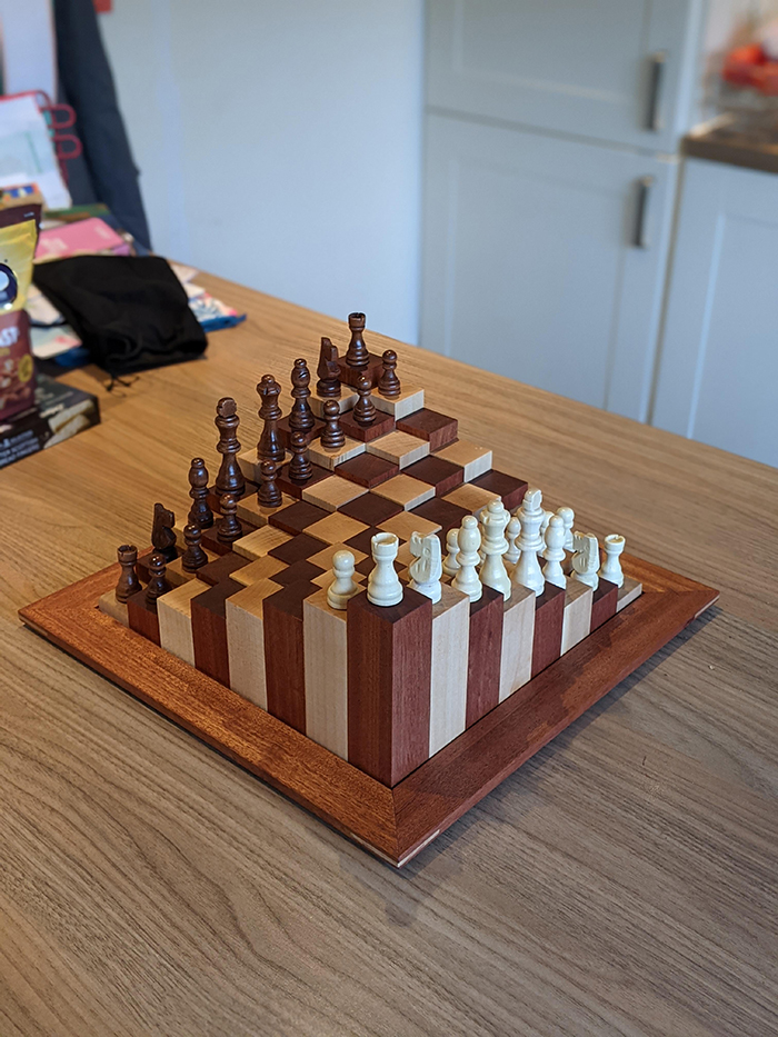 woodworking skills chessboard with a twist