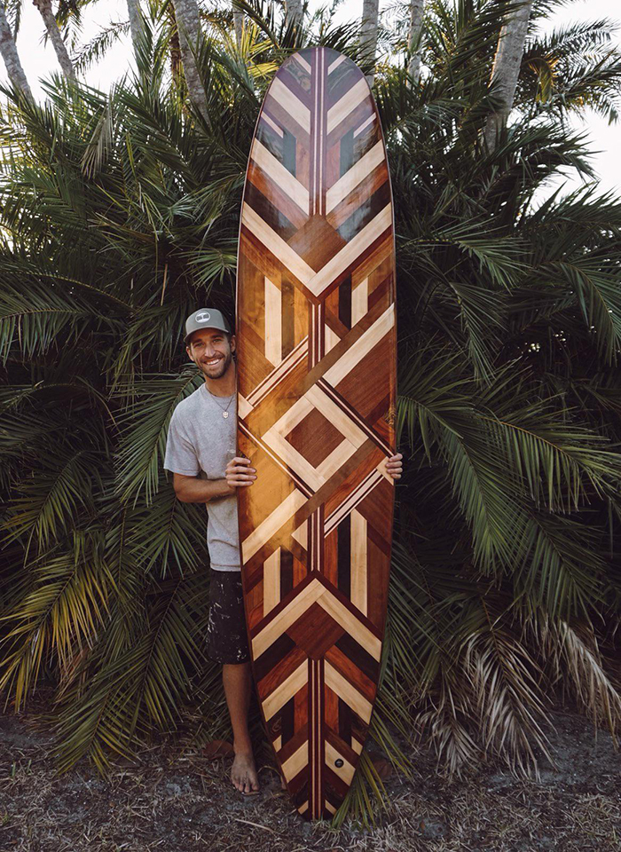 woodworking skills nine foot surfboard