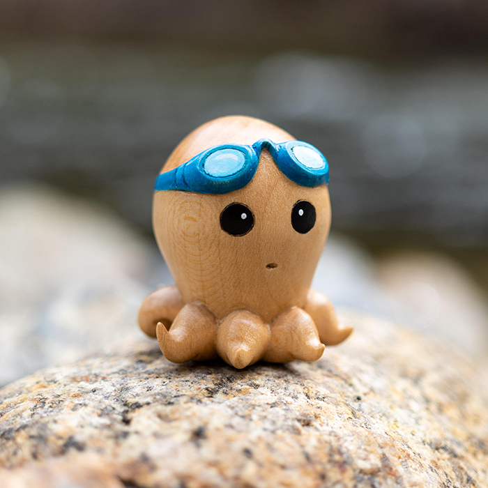 woodworking skills octopus afraid of swimming