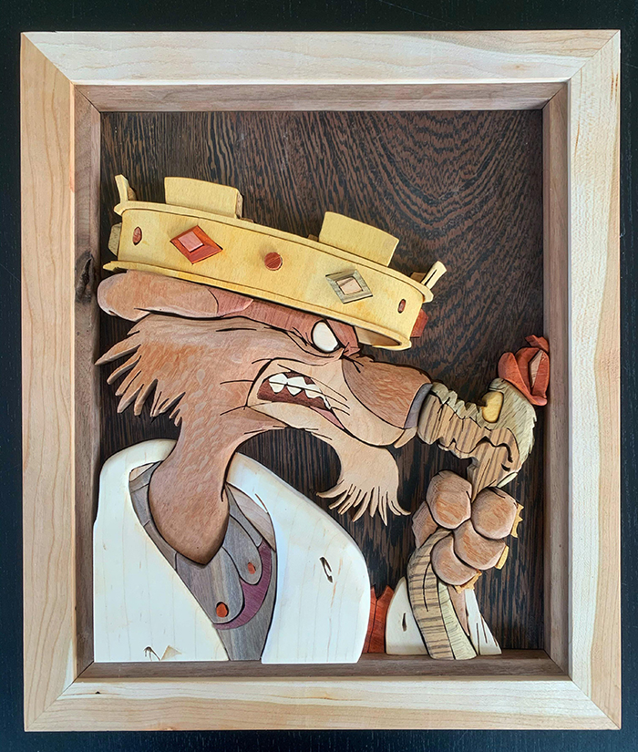 woodworking skills prince john and hiss from robin hood