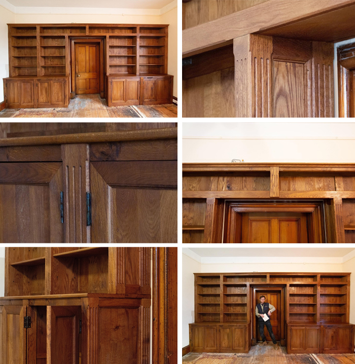 woodworking skills shelves with cabinets and a door
