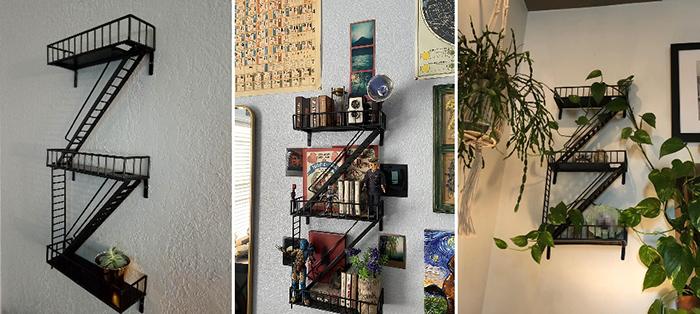 zigzag ladder shelves