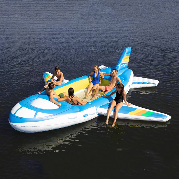 18 foot aircraft inspired pool float