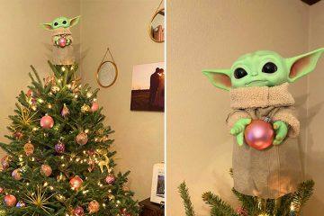 Baby Yoda Christmas tree topper