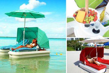 Floating Cabana loungers