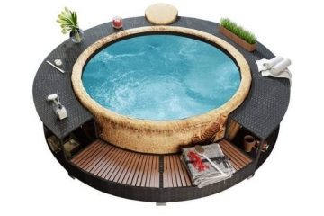 Inflatable Hot Tub Surround Structure