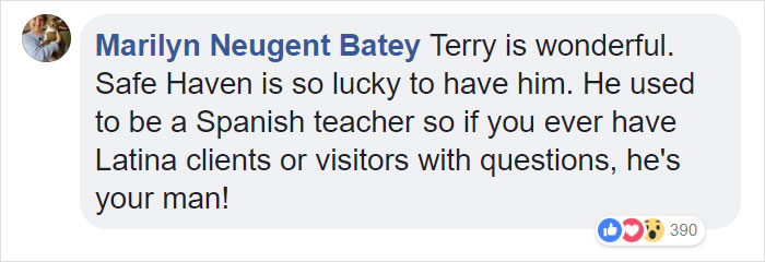 Marilyn Neugent Batey recognizes Terry