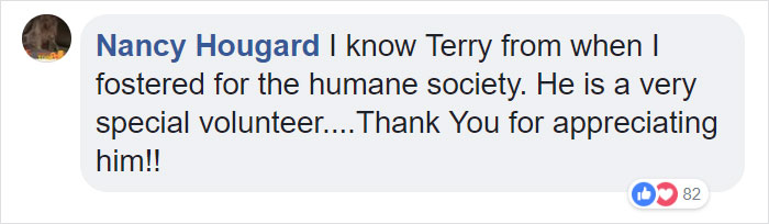 Nancy Hougard knows Terry from a previous fostering program