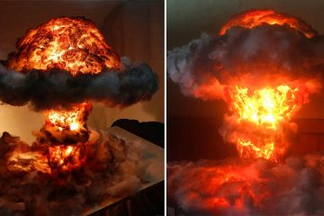 Nuclear Bomb Explosion lamp