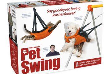 Pet swing prank box