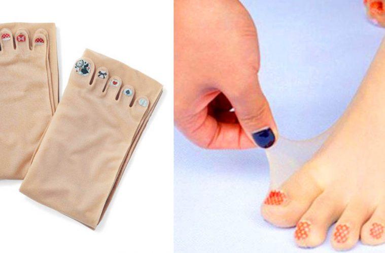 Pre-Painted Toenails stockings