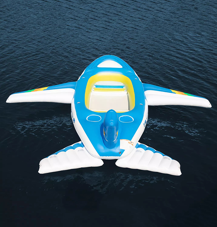 airplane inspired inflatable float