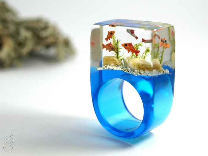 aquarium ring orange fishes