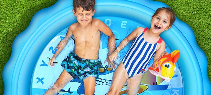 backyard play mat shallow water