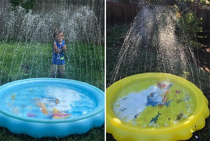 backyard play mat water jets