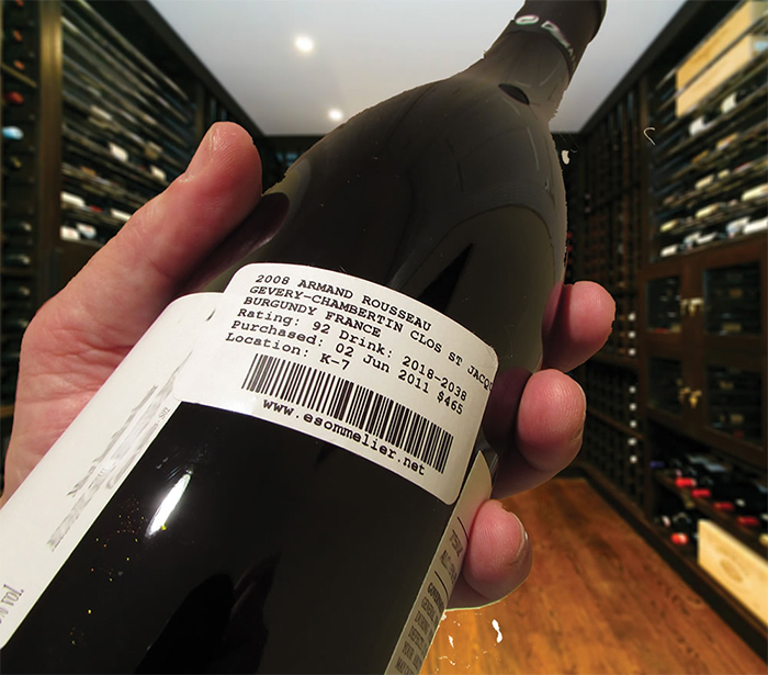 bar code wine bottle