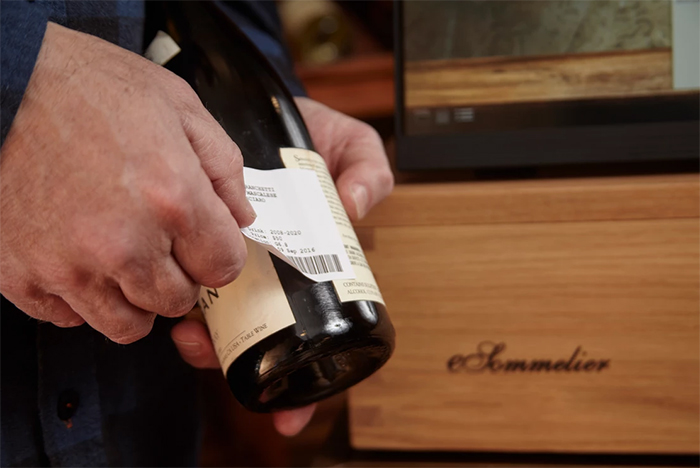 barcode printer wine bottle