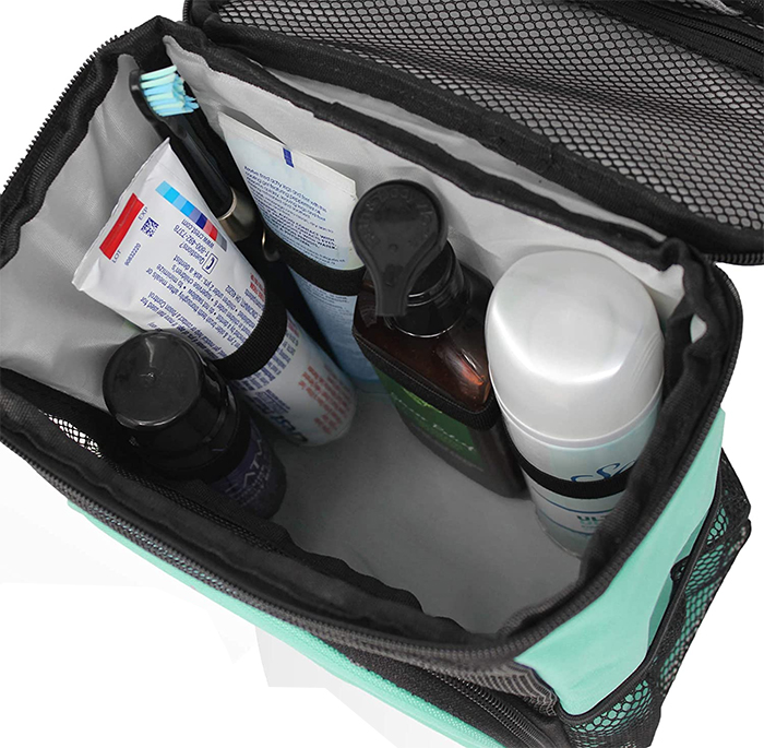 bathroom essentials tote bag