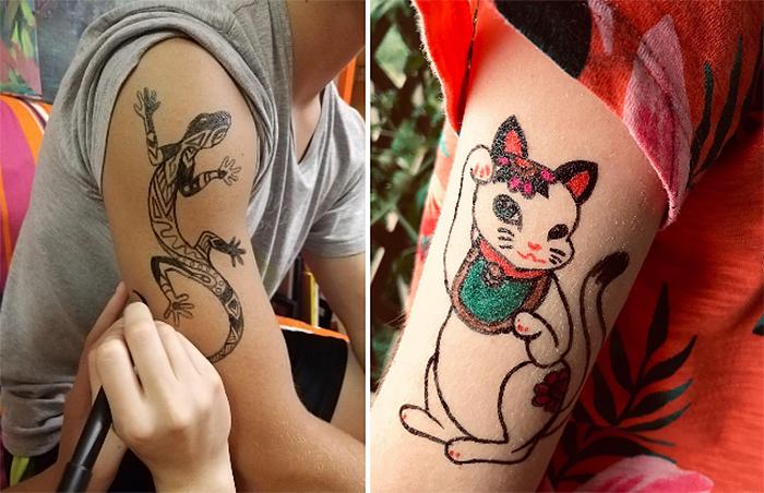 bic body mark pigment tattoos