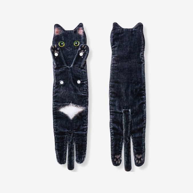 black cat towel