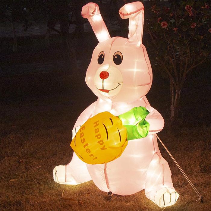 blow up rabbit outdoor decor