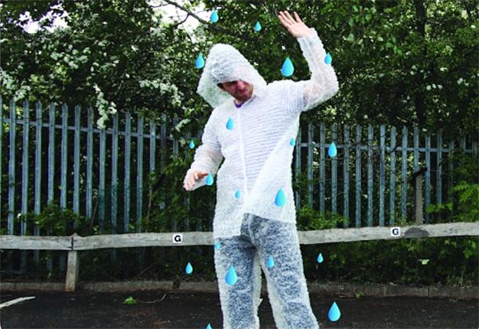 bubble wrap suit raincoat
