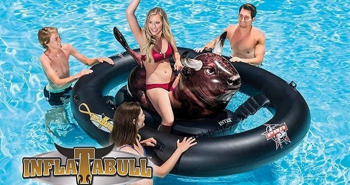 bull ride-on float